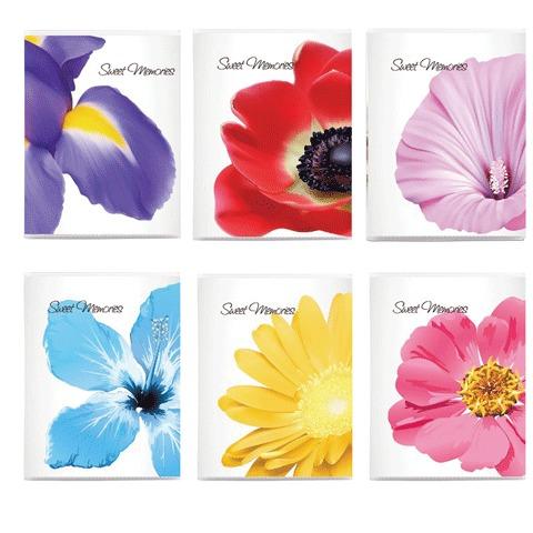 063316 Фотоальбом BRAUBERG на 36 фото 10*15 см, мягкая обложка, цветы, ассорти