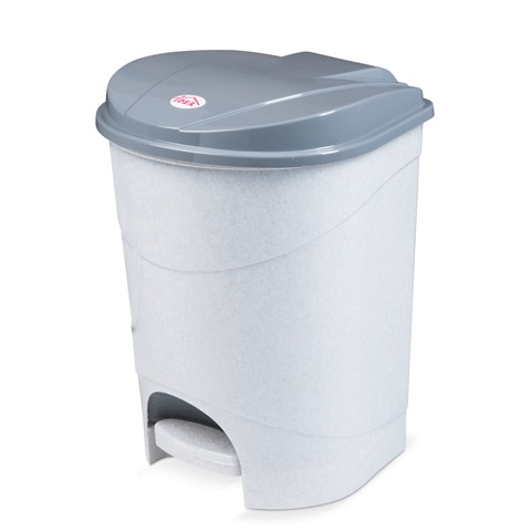 067290 Ведро-контейнер 19л С КРЫШКОЙ И ПЕДАЛЬЮ, для мусора