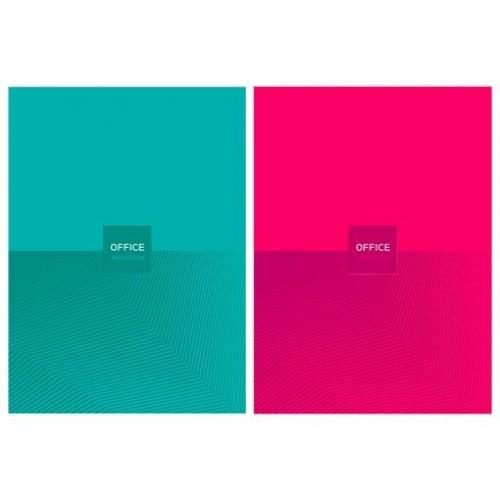 "086183 Тетрадь А4 120л кл. сшивка ""Office Color"" мат.лам., 4-цв.блок"