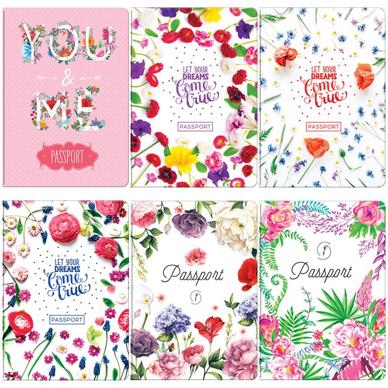 """052195 Обложка для паспорта ОfficeSpace ПВХ, """"Цветы"""""""