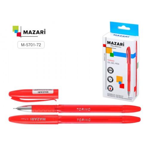 071692 Ручка шариковая MAZARI TORINO красная, масляная основа, 0,7мм