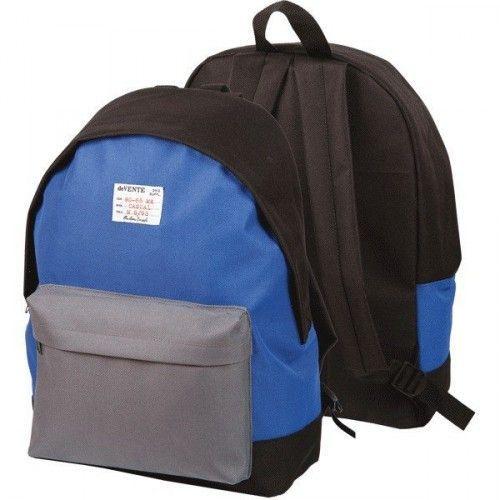 """080853 Рюкзак подростковый  """"deVENTE. Чёрный с синим и серым"""""""