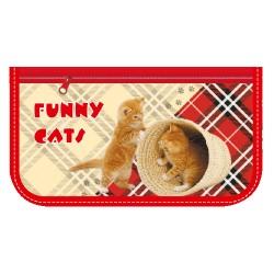 055351 Пенал-косметичка  Весёлые котята