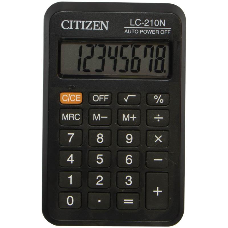 033069 Калькулятор CITIZEN LC210 8 р черный карманный