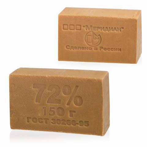 064853 Мыло хозяйственное 72%, 150г (Меридиан), без упаковки