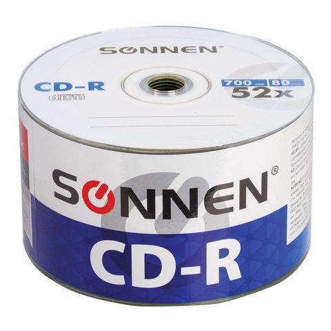 074469 Диски CD-R SONNEN, 700 Mb, 52x, Bulk,1 шт.