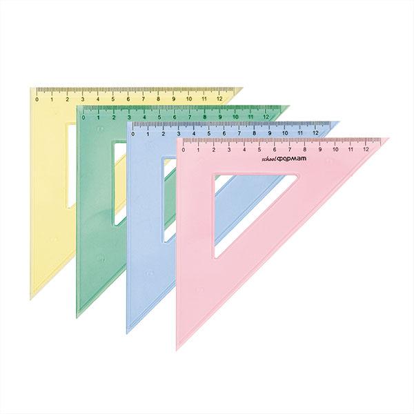 038454 Треугольник 45 гр 9 см пласт.
