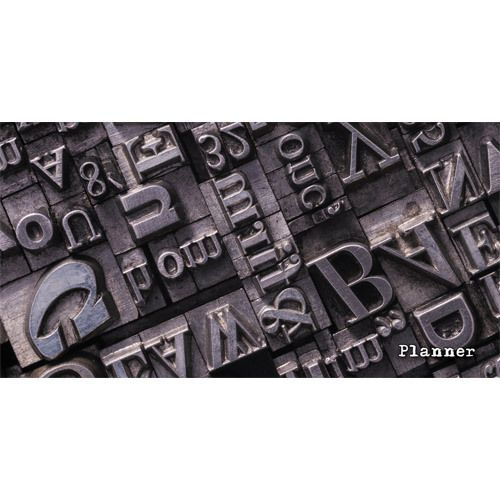 "076825 Планинг недатированный карманный  ""Шрифты"" 64л"