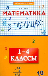 Сычева. Математика в таблицах. 1-4 класс.