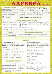 052150 Карточка А5  Алгебра ч.1