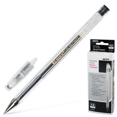 050512 Ручка гелевая BEIFA 0,5мм, черная