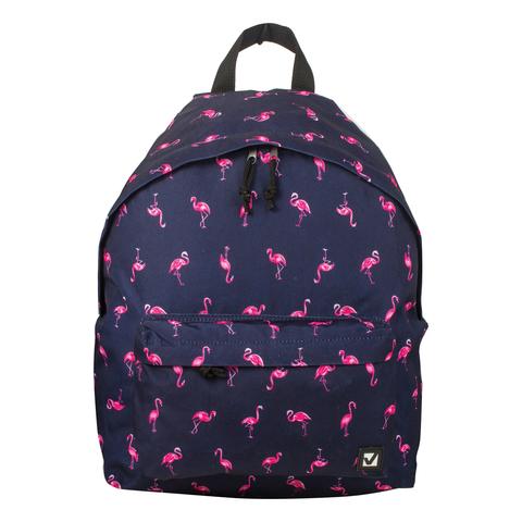 056977 Рюкзак BRAUBERG, сити-формат, синий, Фламинго