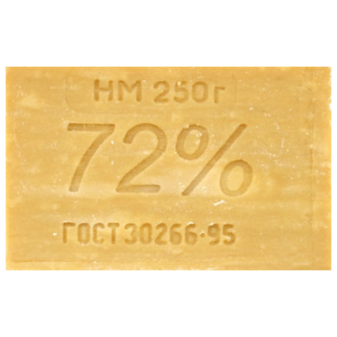 036712 Мыло хозяйственное 72%, 250г (ЭФКО), б/упаковки, Х303/1