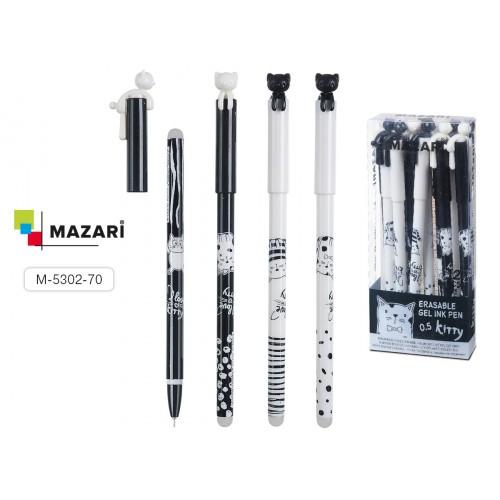 066164 Ручка - шпион MAZARI ROOF гелевая, синяя, со стираемыми термочернилами
