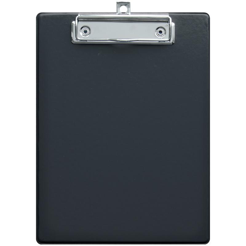 074486 Планшет с зажимом OfficeSpace А5, ПВХ, черный