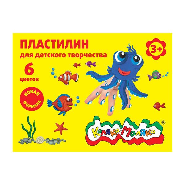 062311 Пластилин Каляка-Маляка д/детского творчества 6 цв. 90 г со стеком 3+