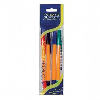 """040784 Ручки шариковые """"Школьник"""", набор 4 шт."""