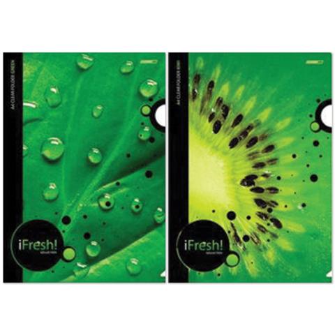 037485 Папка-уголок с рисунком «Хатбер» HD, А4, «iFRESH-green»