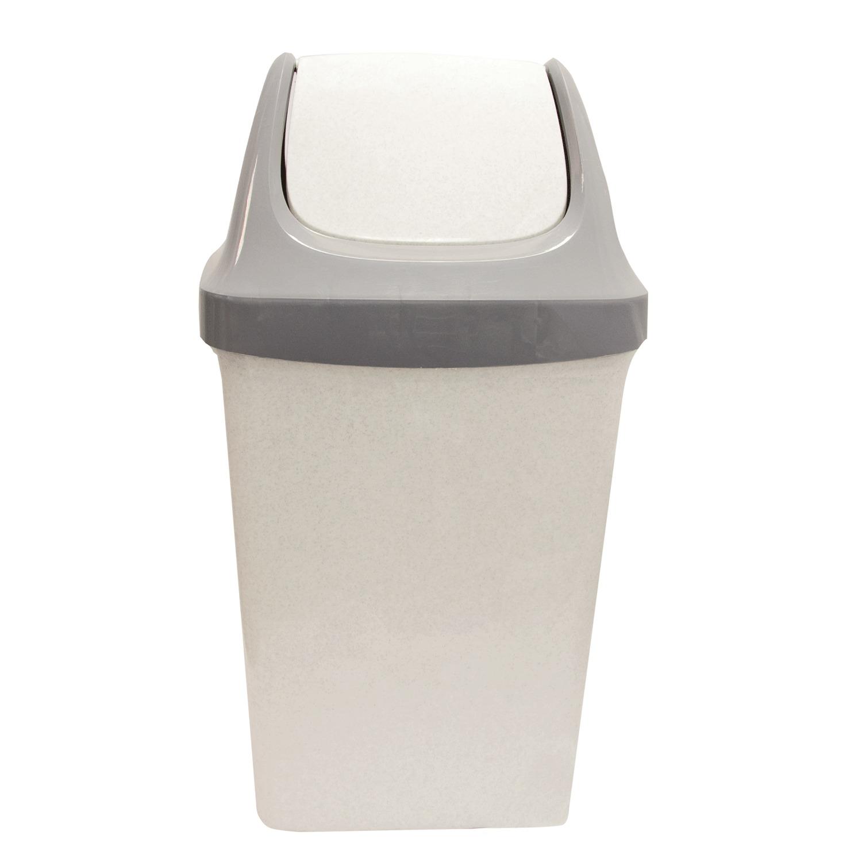 """078966 Ведро-контейнер 25 л, с крышкой (качающейся), для мусора,""""Свинг"""""""