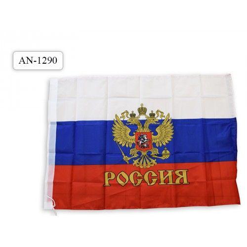 "084694 Флаг ""РОССИЯ"" 60*90см, герб"