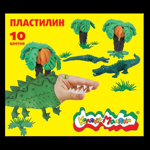 013567 Пластилин 10цв. Каляка-маляка
