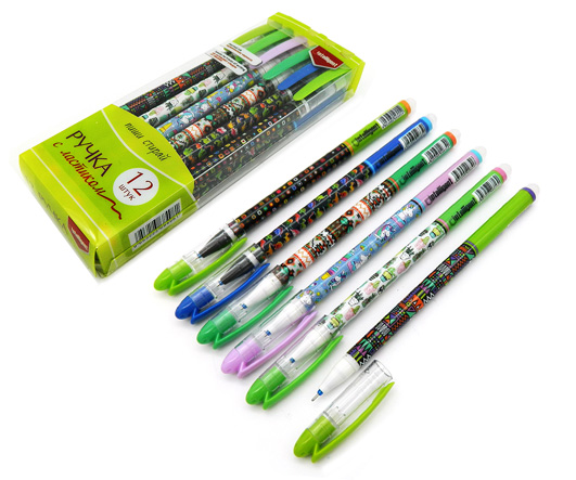 086744 Ручка шпион Пиши-стирай с орнаментом