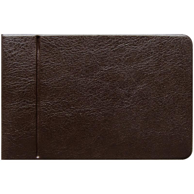 052287 Кредитница на 16 карт, ПВХ, коричневый, гориз.