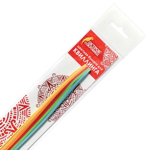 "074966 Бумага для квиллинга ""Яркие цвета"", 5 цветов, 100 полос, 5 мм х 300 мм, 80 г/м2"