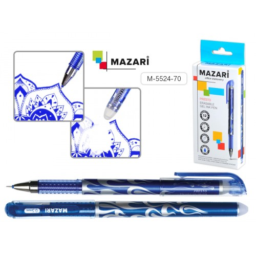 072776 Ручка - шпион MAZARI PRESTO гелевая, синяя
