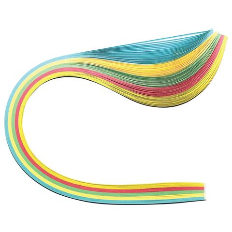 """074961 Бумага для квиллинга """"Пастель"""", 5 цветов, 100 полос, 5 мм х 300 мм, 80 г/м2"""