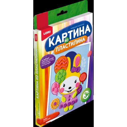 """070201 Картина из пластилина """"Зайка"""""""
