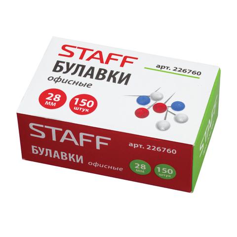 085923 Булавки офисные STAFF, 28 мм, 150 шт.