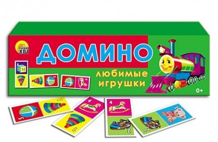 "050193 Игра пластик ""Домино. Любимые игрушки"""