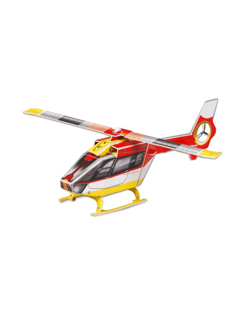 """079450 """"Вертолет"""" Сборная модель из картона. Масштаб 1/87"""