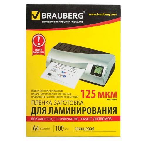 013666 Плёнка д/ламинирования А4 125 мкм
