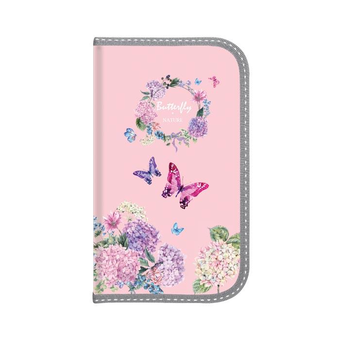 070167 Пенал 1 отделение Акварельные бабочки