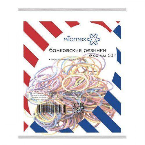 083867 Резинки для денег   50гр., 60мм, цветные