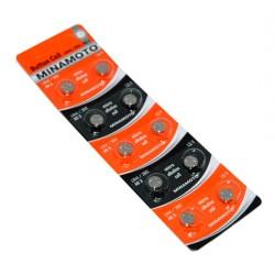 058081 Батарейка-таблетка  G-3 MINAMOTO LR41