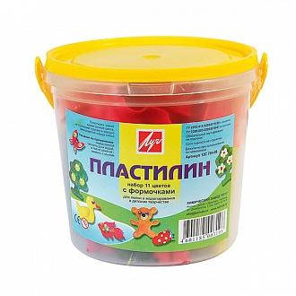 052873 Пластилин ЛУЧ КРОХА 11 цв. 181 г со стеком