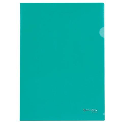 035541 Папка-уголок,0,10мм,ассорти (тонк.)
