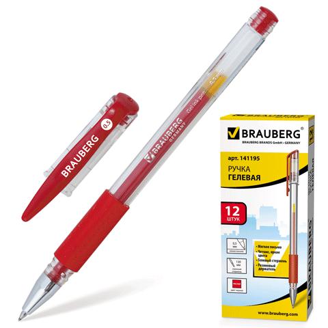 032847 Ручка гелевая BRAUBERG SGP001r,красная