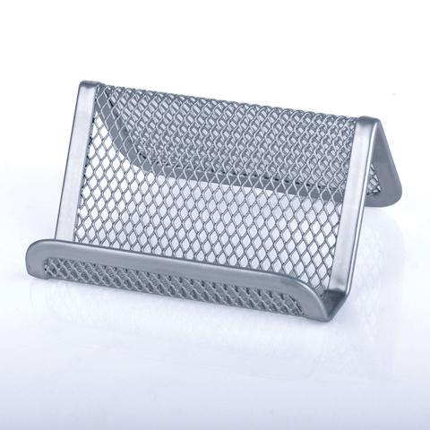 "029700 Подставка д/визиток BRAUBERG ""Germanium"" металл., серебро"