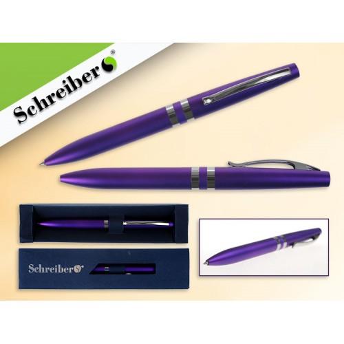 065545 Ручка шариковая в футляре, цв.корпуса Фиолетовый