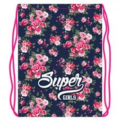 055384 Мешок для обуви 1 отд, 330*420 Super girls