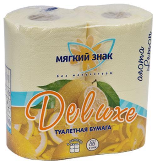 """035651 Бумага туалетная """"DELUXЕ"""" арома 2сл.,4 рул."""