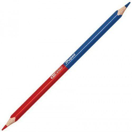 "083880 Карандаш двухцветный ""Blue-Red"" трехгранный"