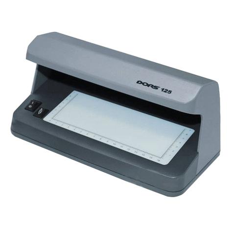 086655 Детектор банкнот DORS 125, просмотровый, УФ-детекция, серый, SYS-033272