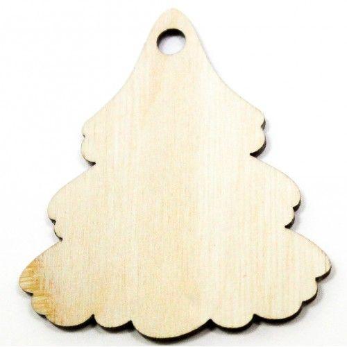 076326 Заготовка деревянная Подвеска Елка №5 6 см