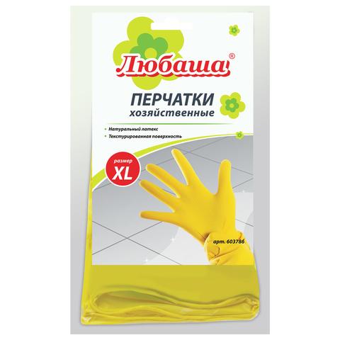067863 Перчатки хоз.латексные ЛЮБАША ЭКОНОМ,с х/б напылением,размер XL