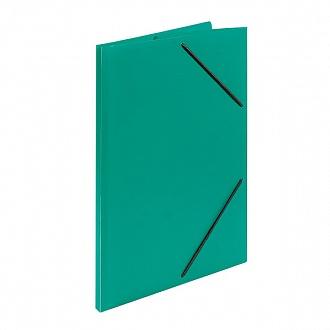 030317 Папка с резинкой А4 зеленый